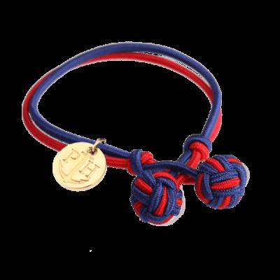 Zlatna Čvor Narukvica Teget Plava-Crvena