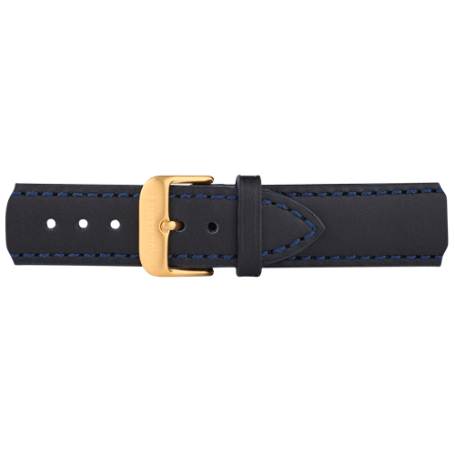 Kožna Zlatna Narukvica Teget 186mm