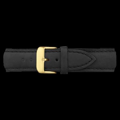 Zlatna Kožna Narukvica Crna 186mm