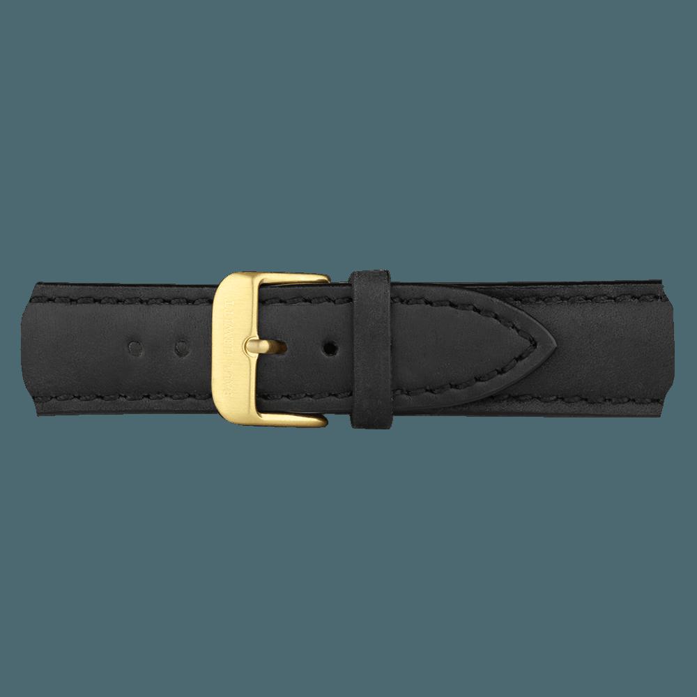 Zlatna Kožna Narukvica Crna 176mm