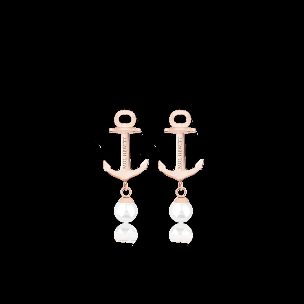 PH-ER-ND-R-P Minđuše Anchor Pearl Roze Zlatna Pearl